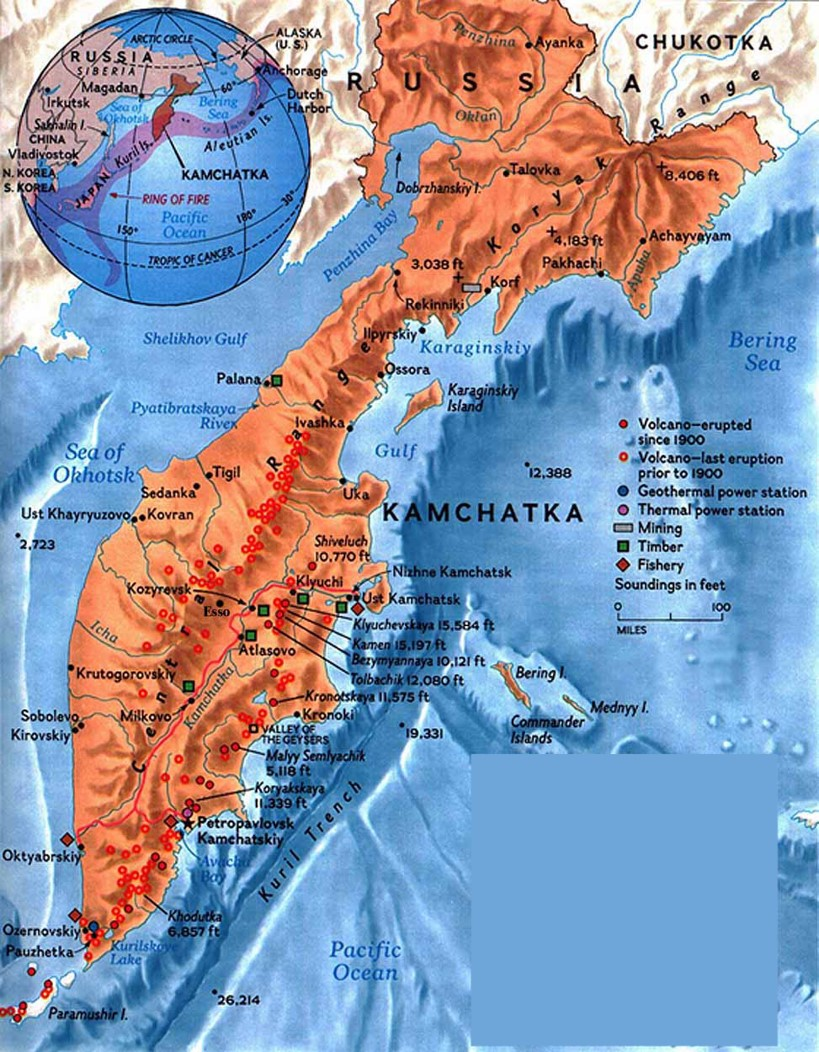 kamchatka map