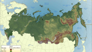 Russia trekking map